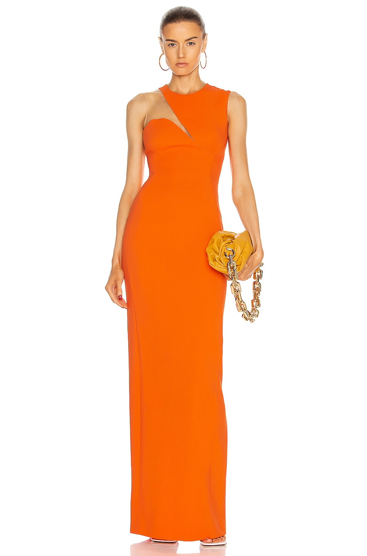 Image 1 of Stella McCartney Evelyn Dress in Tangerine