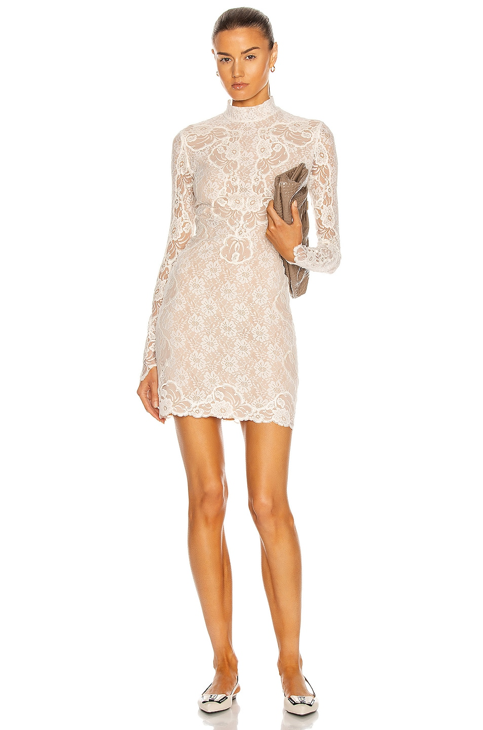 Image 1 of Stella McCartney Lace Mini Dress in White