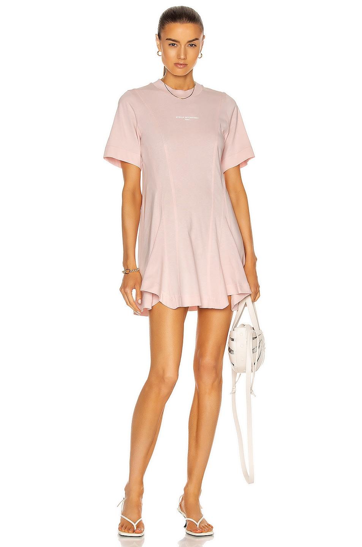 Image 1 of Stella McCartney Drape Stella Logo 2001 Dress in Pale Pink
