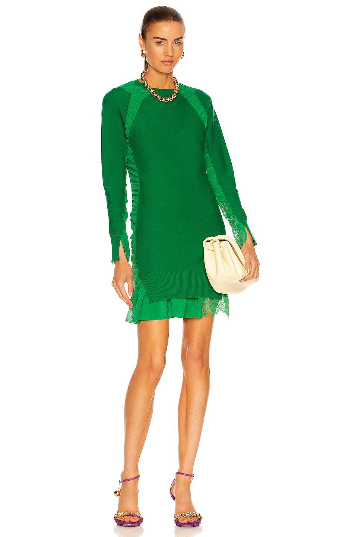 Image 1 of Stella McCartney Silk Mix Knit Dress in Green