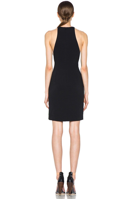 Image 4 of Stella McCartney Cady Mesh Insert Viscose-Blend Dress in Fern & Black