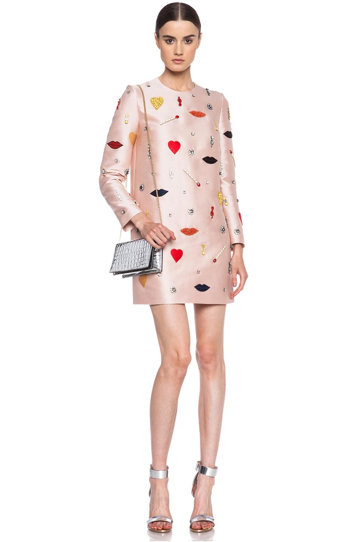 Image 1 of Stella McCartneyEmbellished Cotton-Blend Dress in Rose
