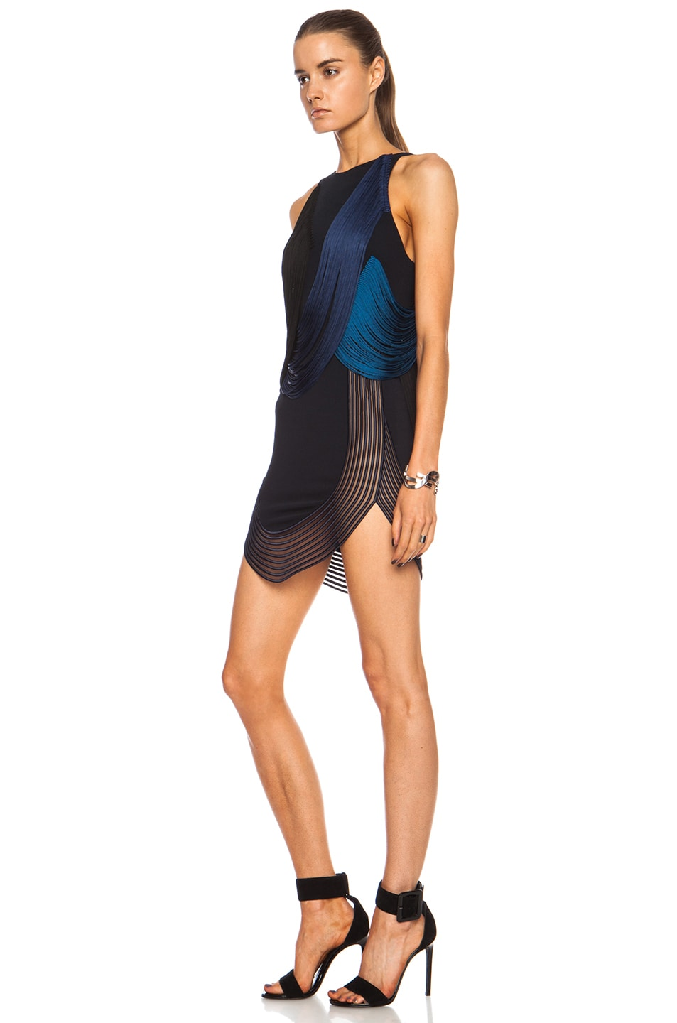 Image 2 of Stella McCartney Hadley Stretch Cady Rayon-Blend Dress in Midnight