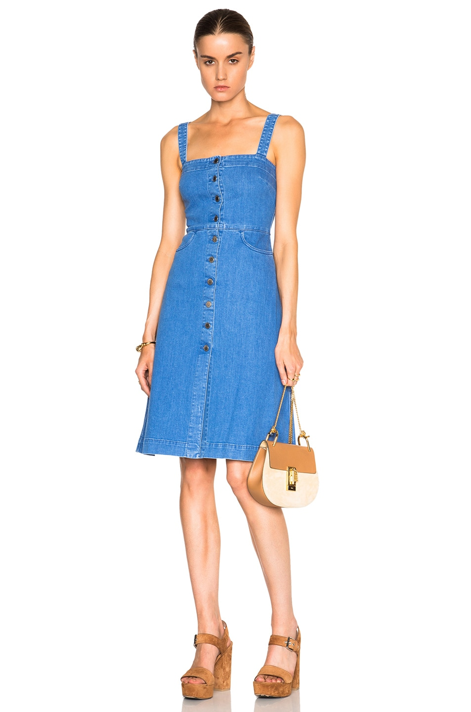 198ab5394e Image 1 of Stella McCartney Linda Denim Dress in Ultra Blue
