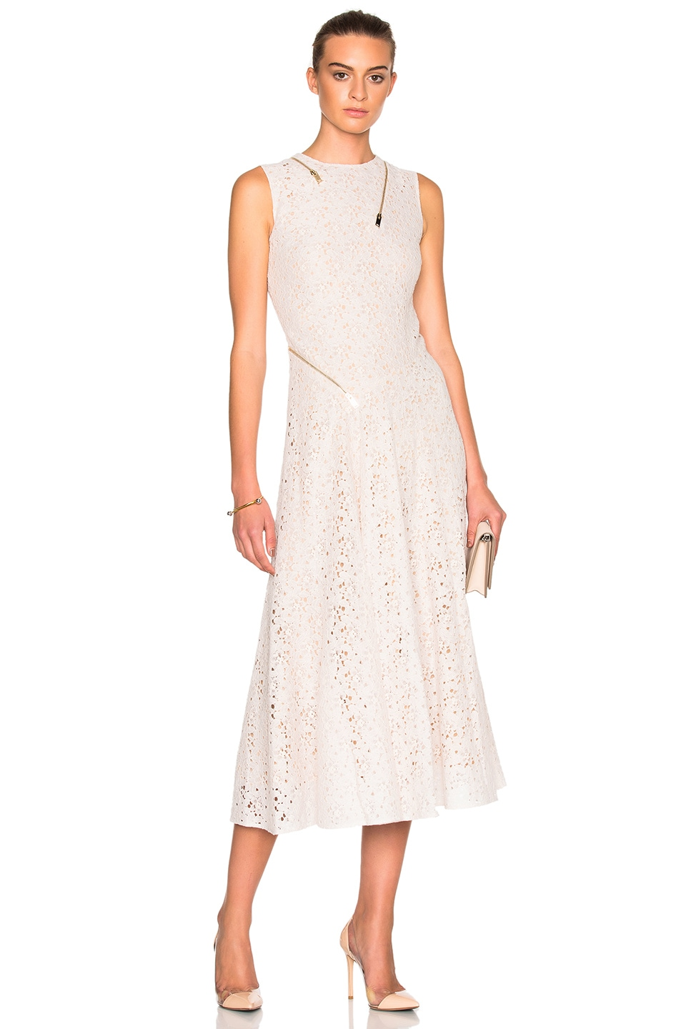 Image 1 of Stella McCartney Rose Lace Dress in Ivory
