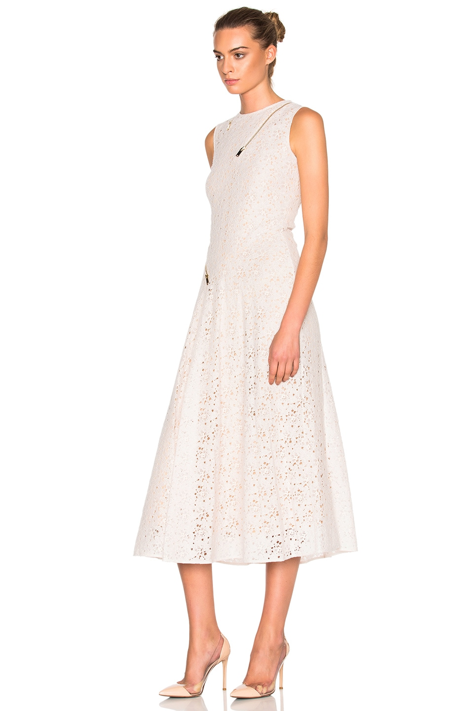 Image 2 of Stella McCartney Rose Lace Dress in Ivory