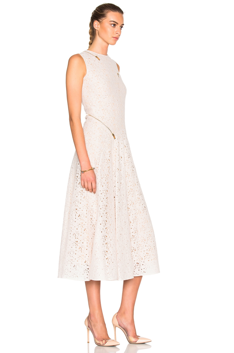 Image 3 of Stella McCartney Rose Lace Dress in Ivory