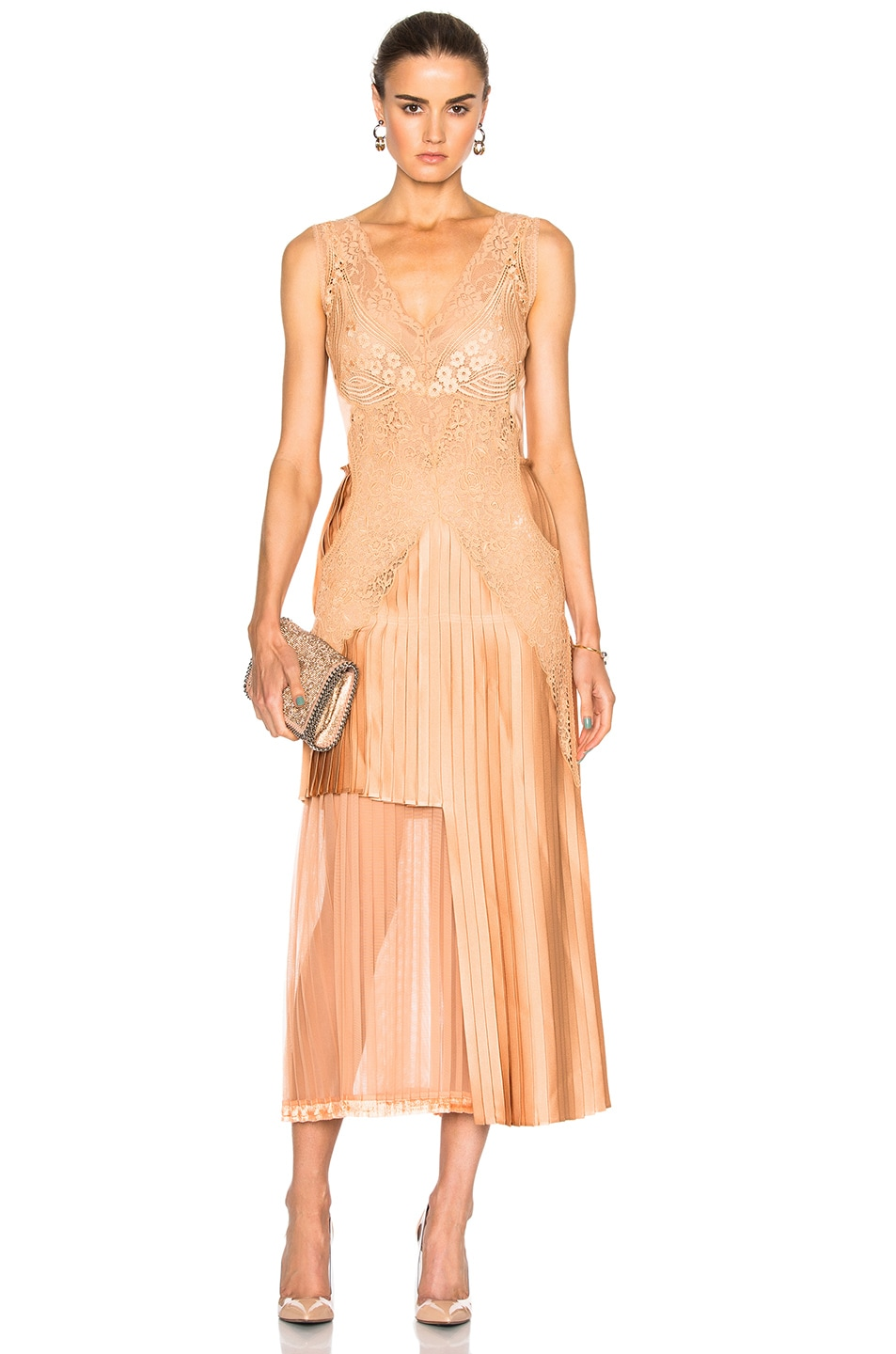 Image 1 of Stella McCartney Sable Satin Dress in Peach