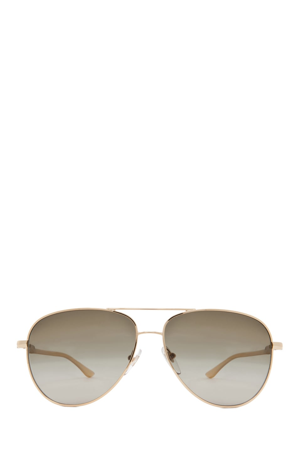 Image 1 of Stella McCartney Aviator Sunglasses in Nude & Gold