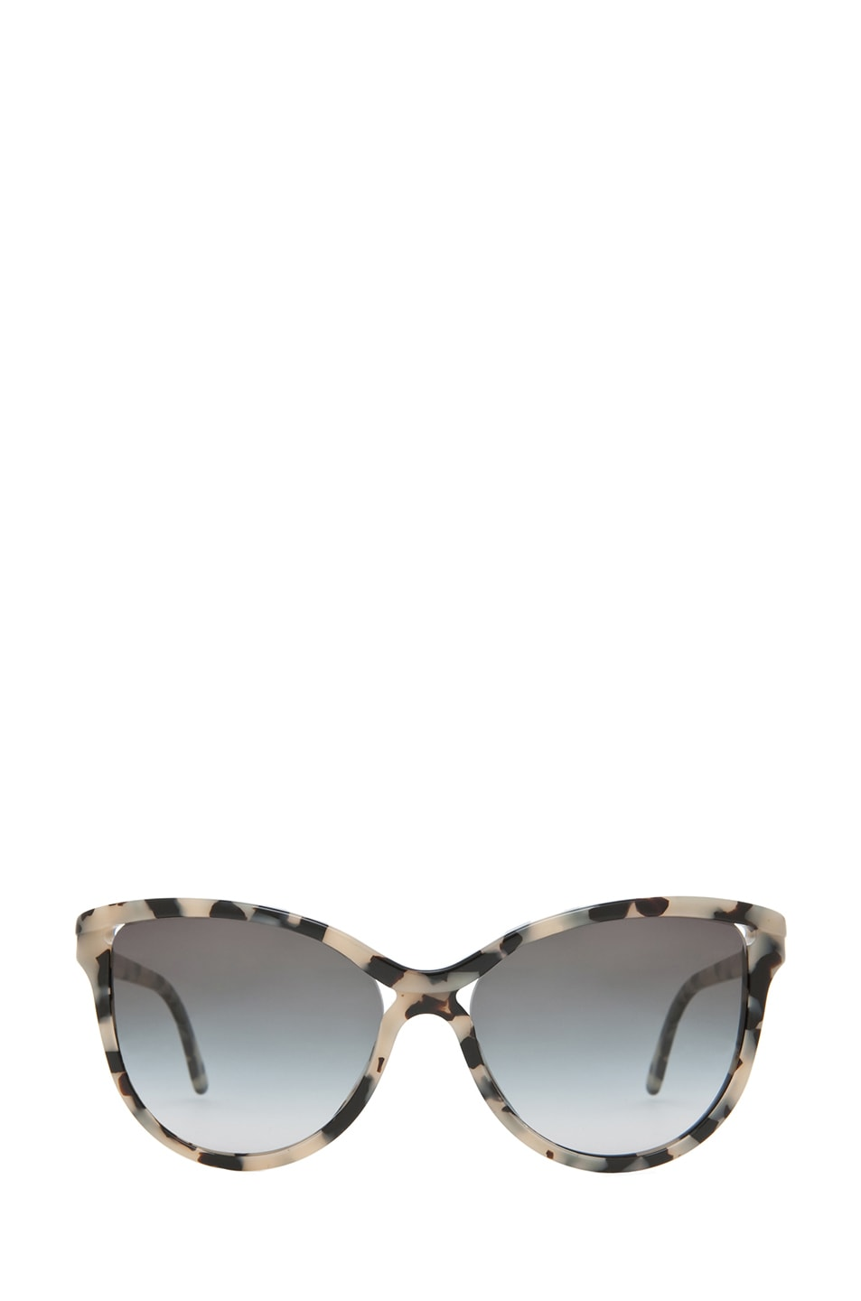 Image 1 of Stella McCartney Grey Gradient Sunglasses in Grey Spotty Tortoise