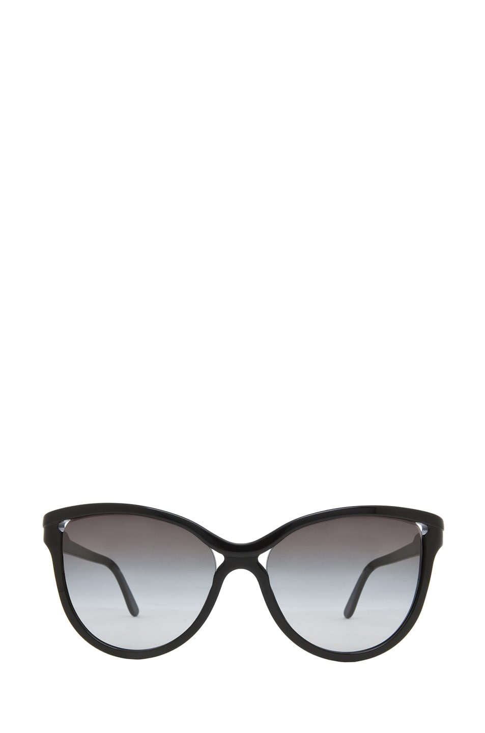 Image 1 of Stella McCartneyRounded Cat Eye Sunglasses in Black & Grey Gradient