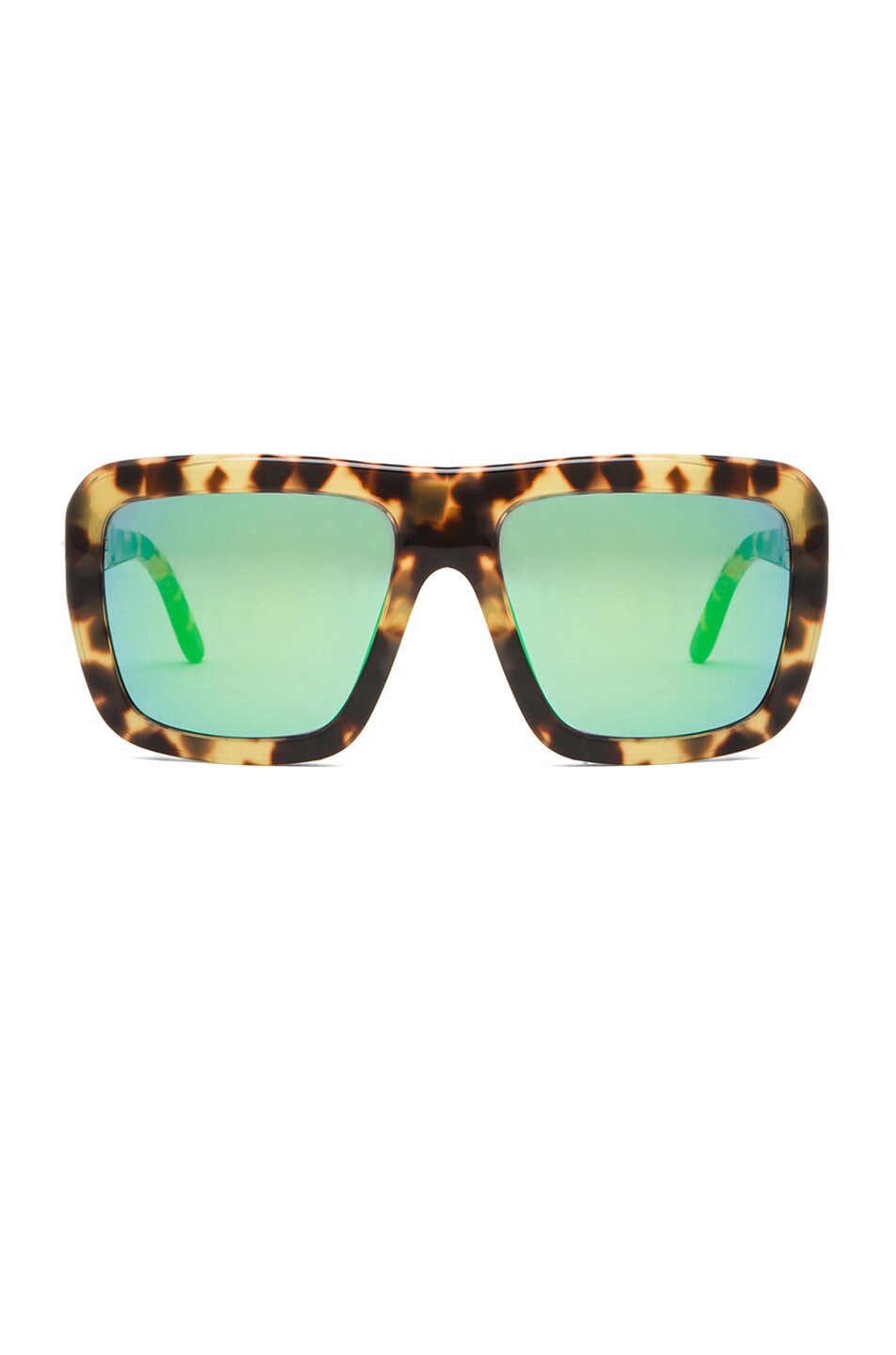 Image 1 of Stella McCartney Sunglasses with Green Mirror in Spotty Tortoise