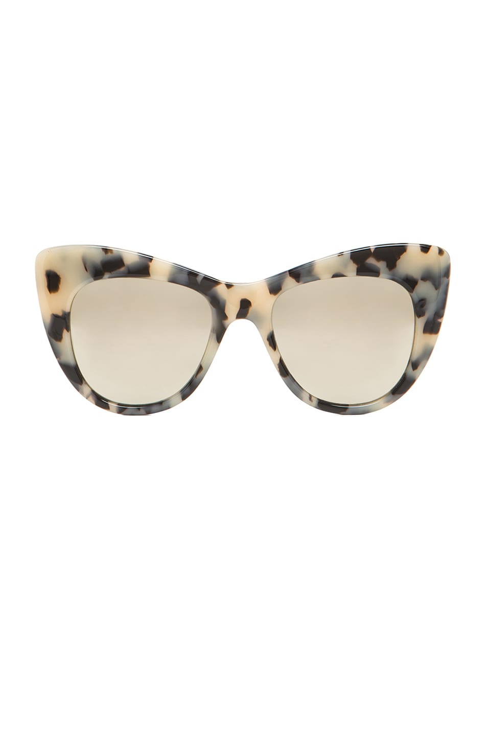 Image 1 of Stella McCartneyMirror Oversized Cateye in Grey Spotty Tortoise