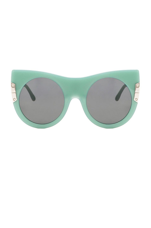 Image 1 of Stella McCartneyOversized Cateye Sunglasses in Blue Celedon