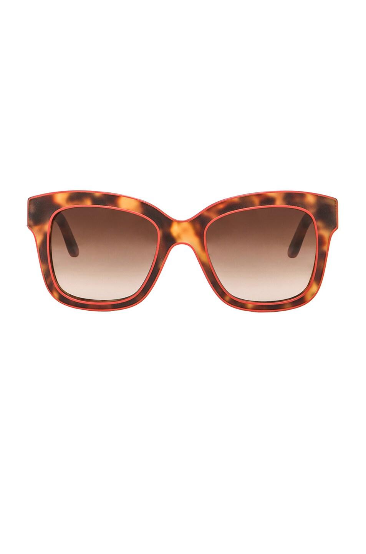 Image 1 of Stella McCartneyWayfarer Sunglasses in Red & Matte Tortoise