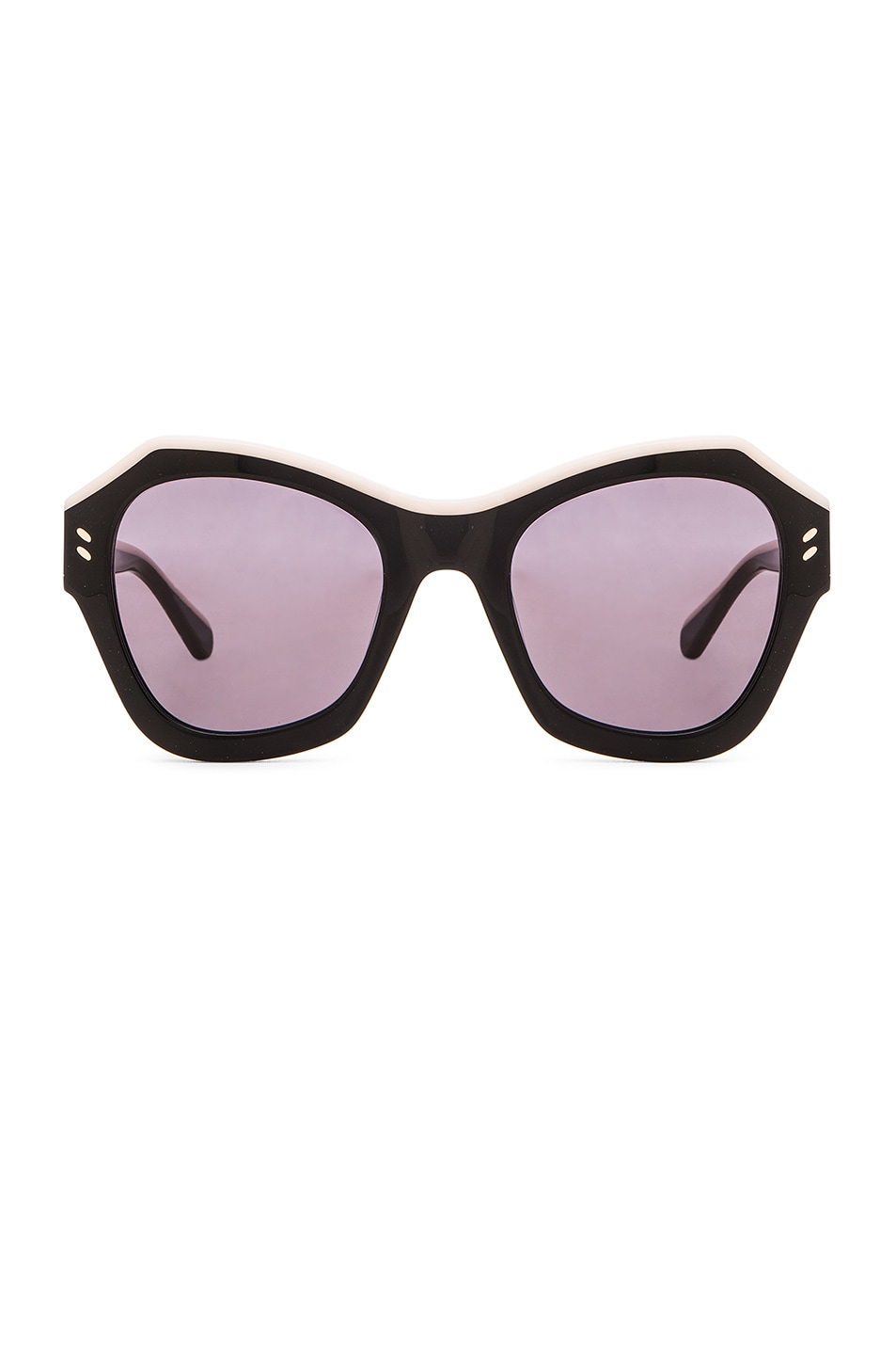 Image 1 of Stella McCartneyColorblock Sunglasses in Black & Ivory