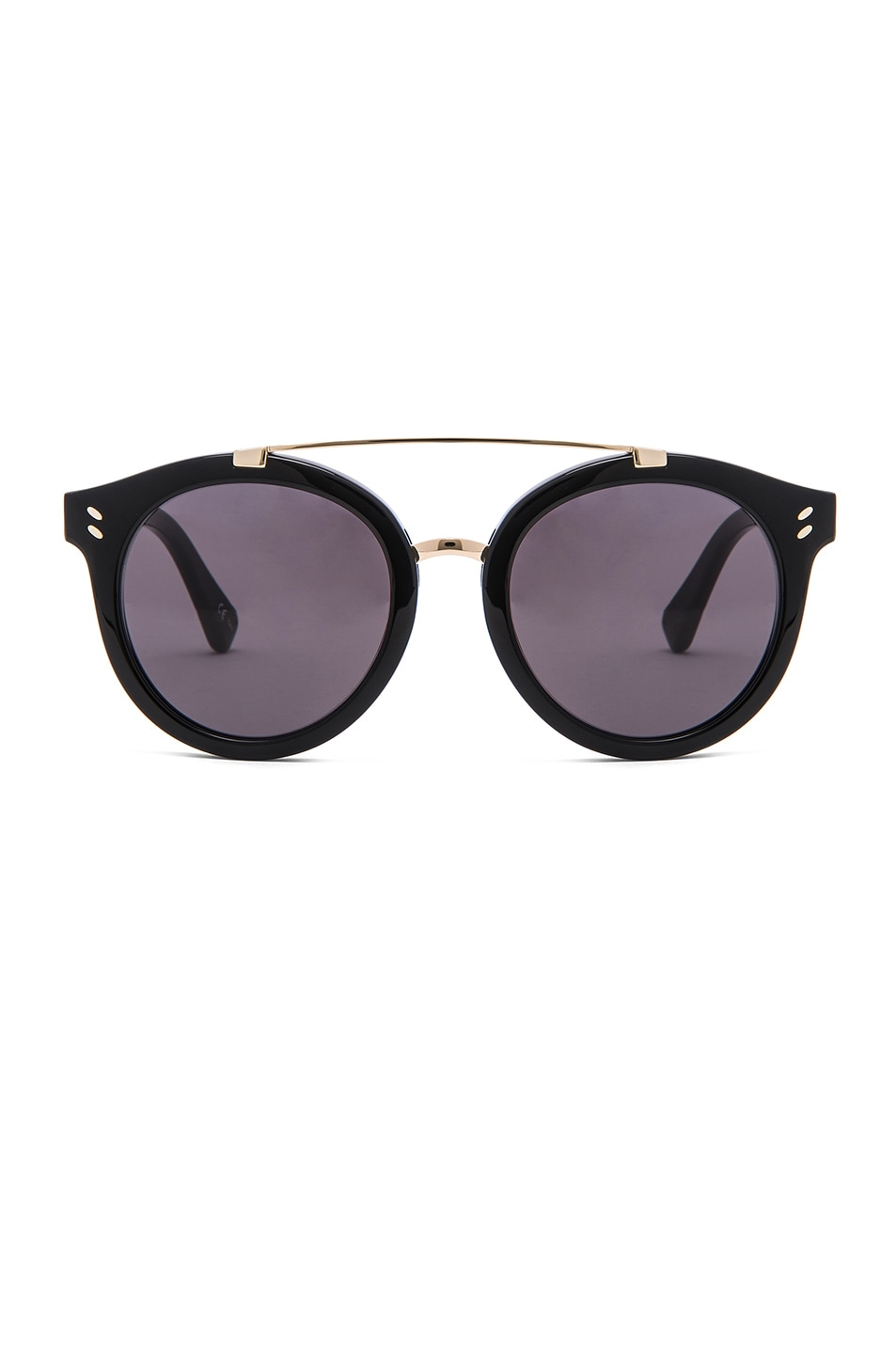 Image 1 of Stella McCartneyPantos Frame Sunglasses in Black & Gold