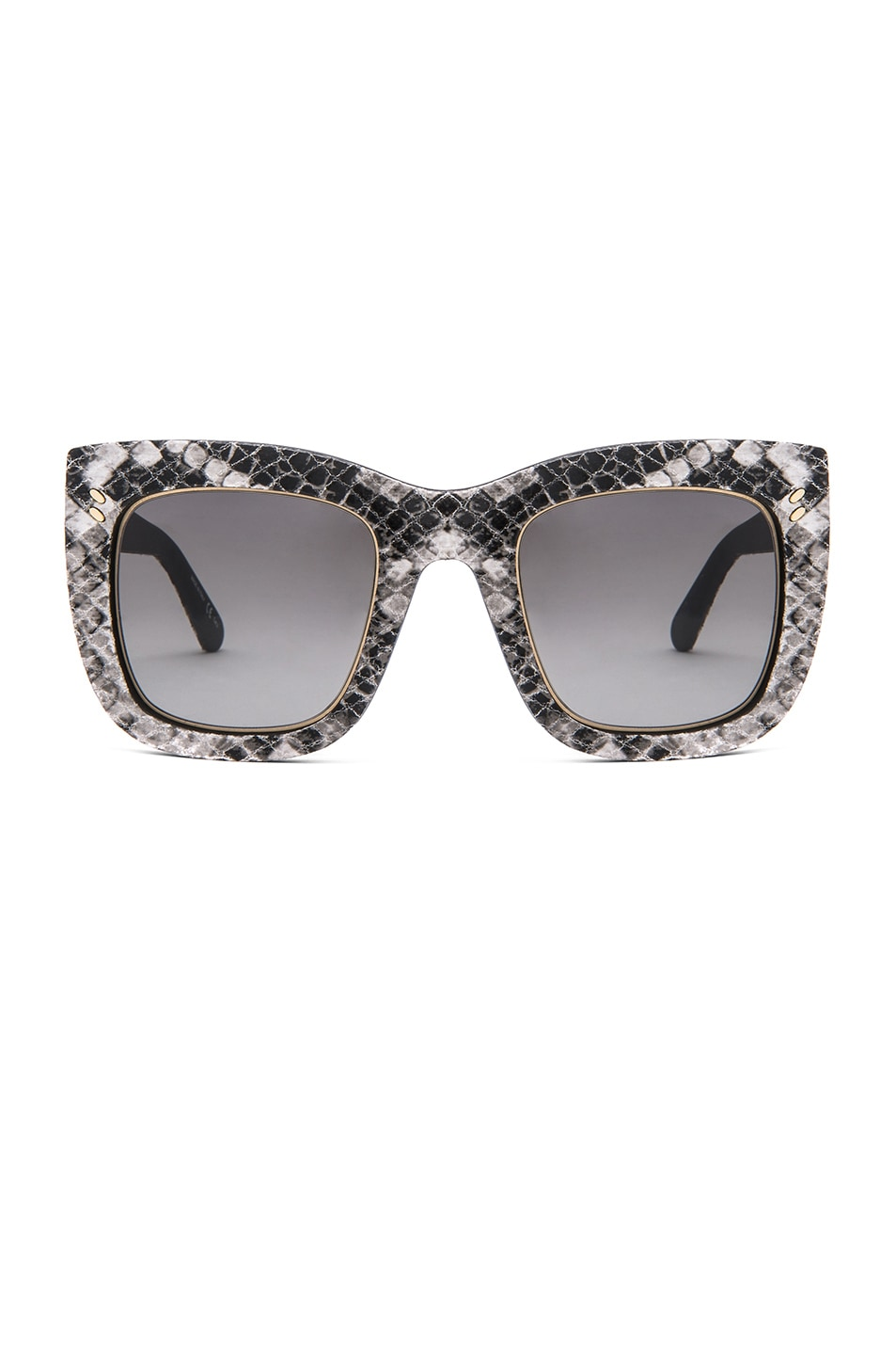 Image 1 of Stella McCartneyFalabella Chain Sunglasses in Phyton White & Black