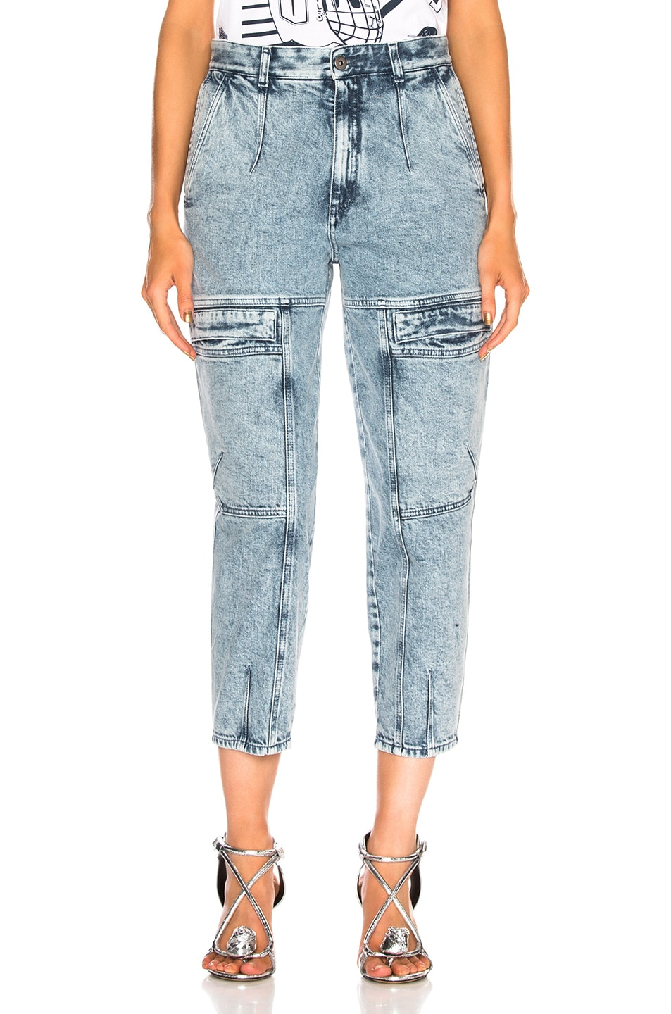 Image 1 of Stella McCartney Leanna Jeans in Acid Blue