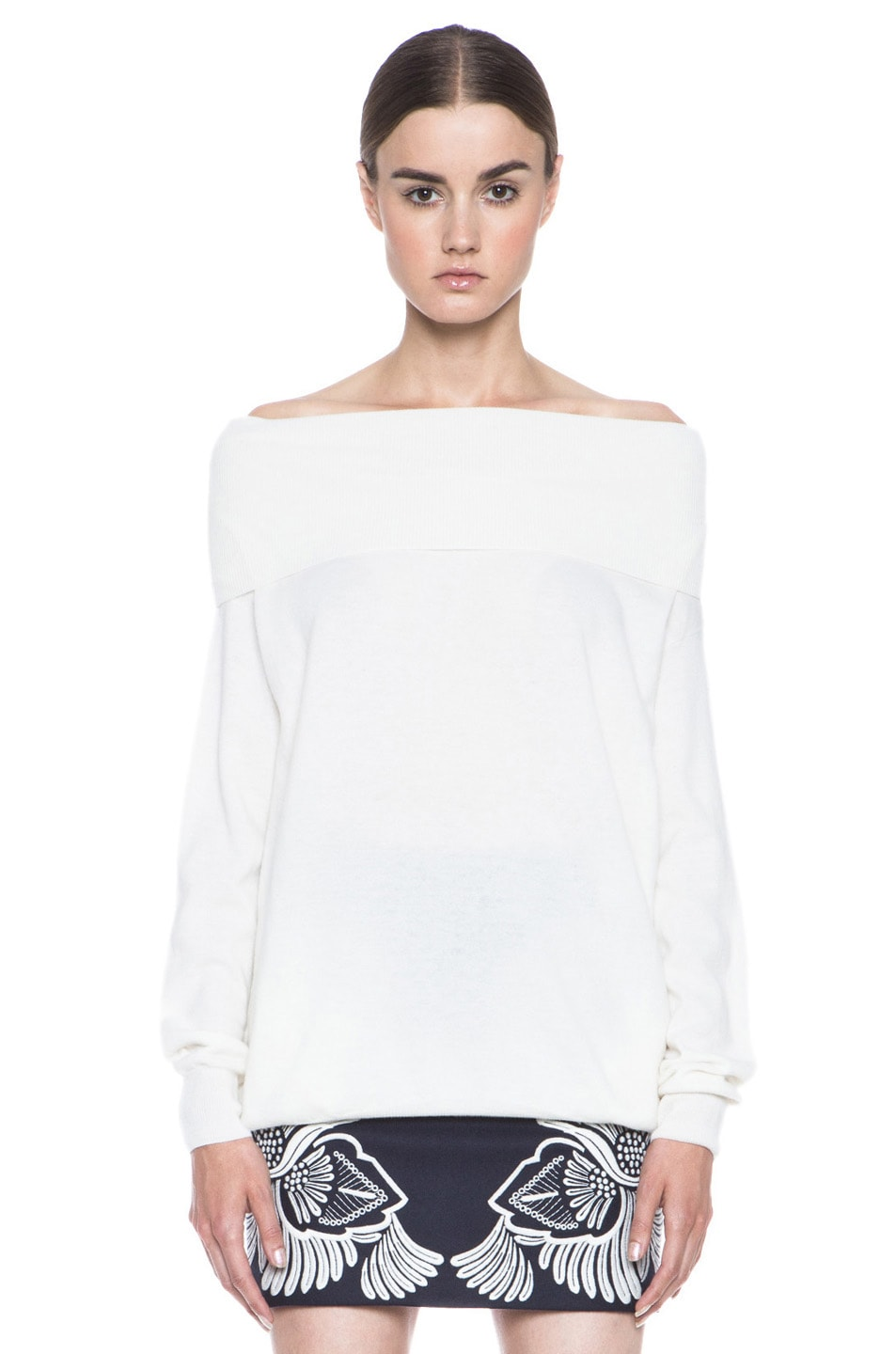 Image 1 of Stella McCartneyOff the Shoulder Wool Sweater in Cream
