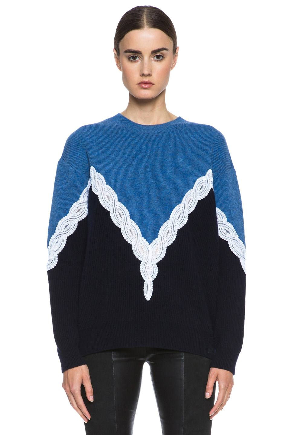Image 1 of Stella McCartney Lace Sweater in Blue