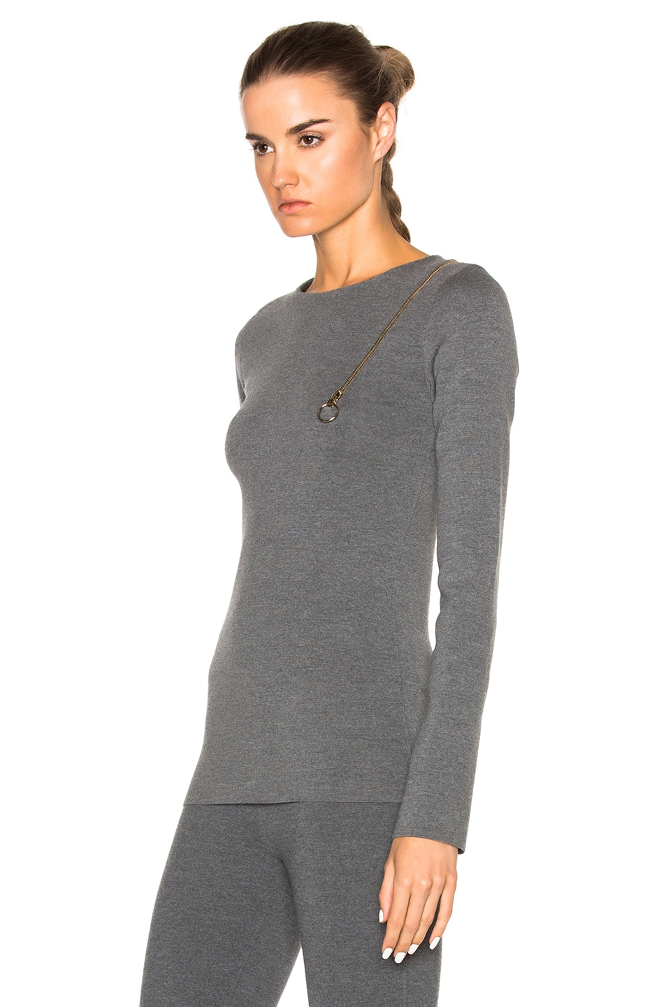 Image 2 of Stella McCartney Strong Lines Sweater in Granite