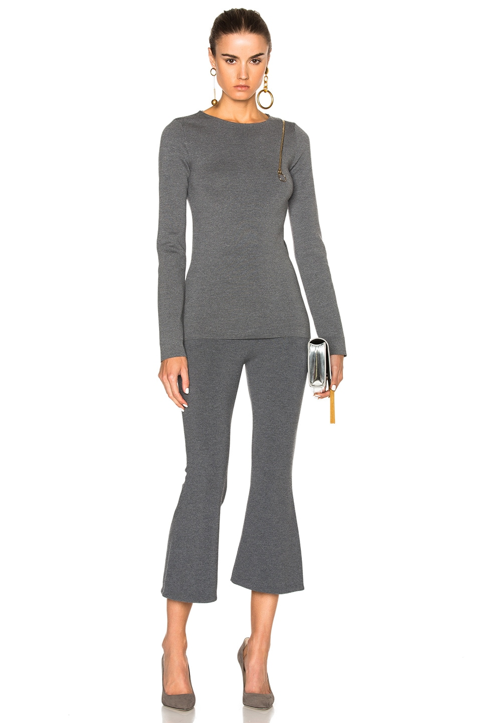 Image 6 of Stella McCartney Strong Lines Sweater in Granite