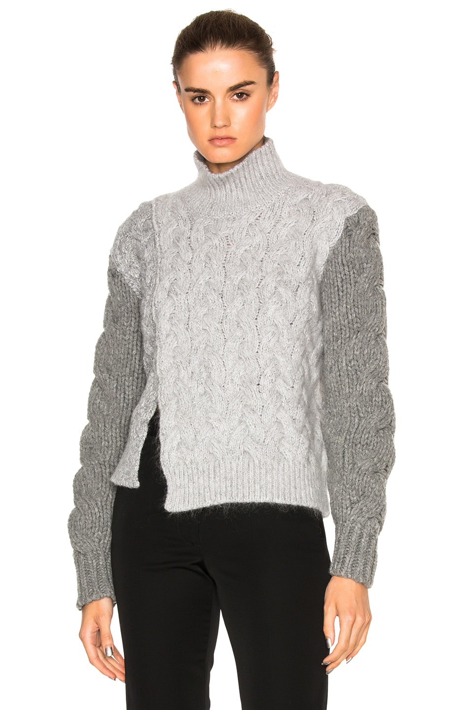 Image 1 of Stella McCartney Chunky Stitch Turtleneck in Wolf Grey
