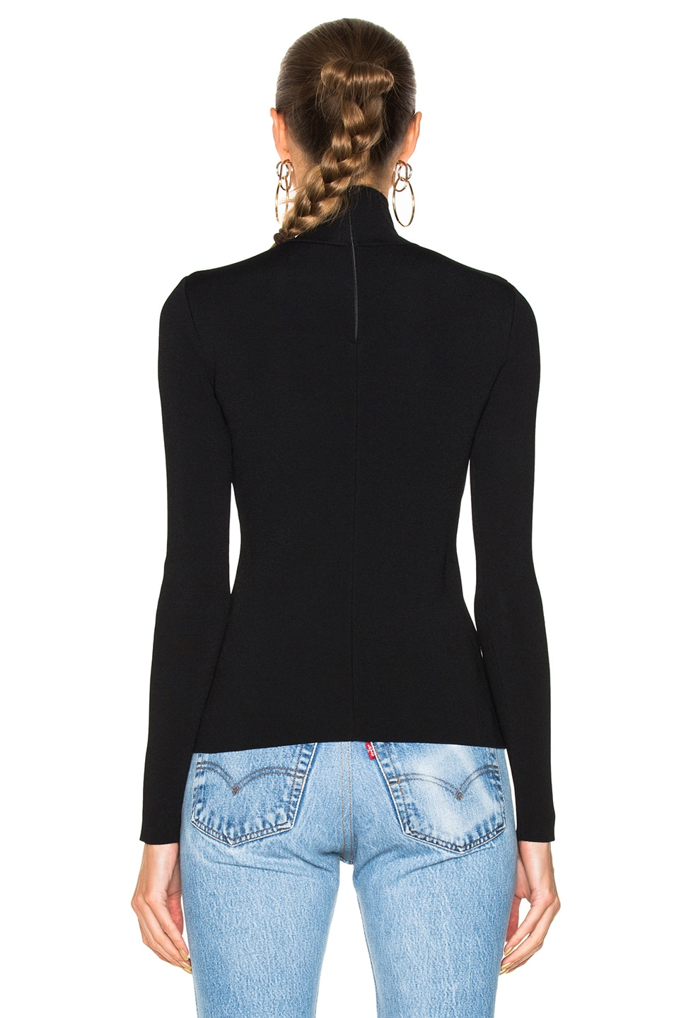 Image 3 of Stella McCartney Turtleneck Sweater in Black