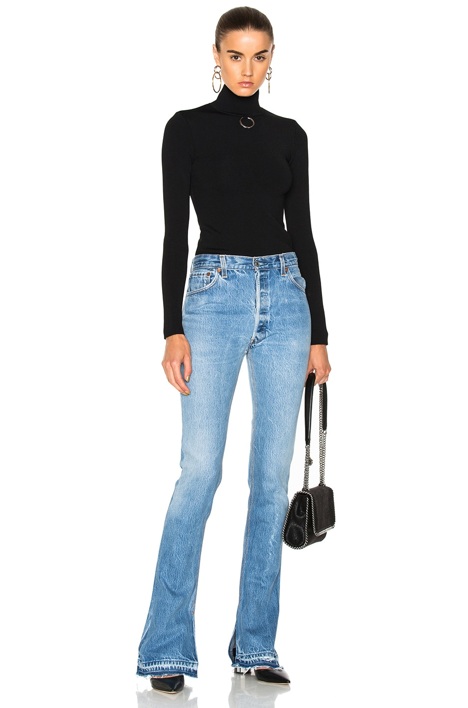 Image 4 of Stella McCartney Turtleneck Sweater in Black