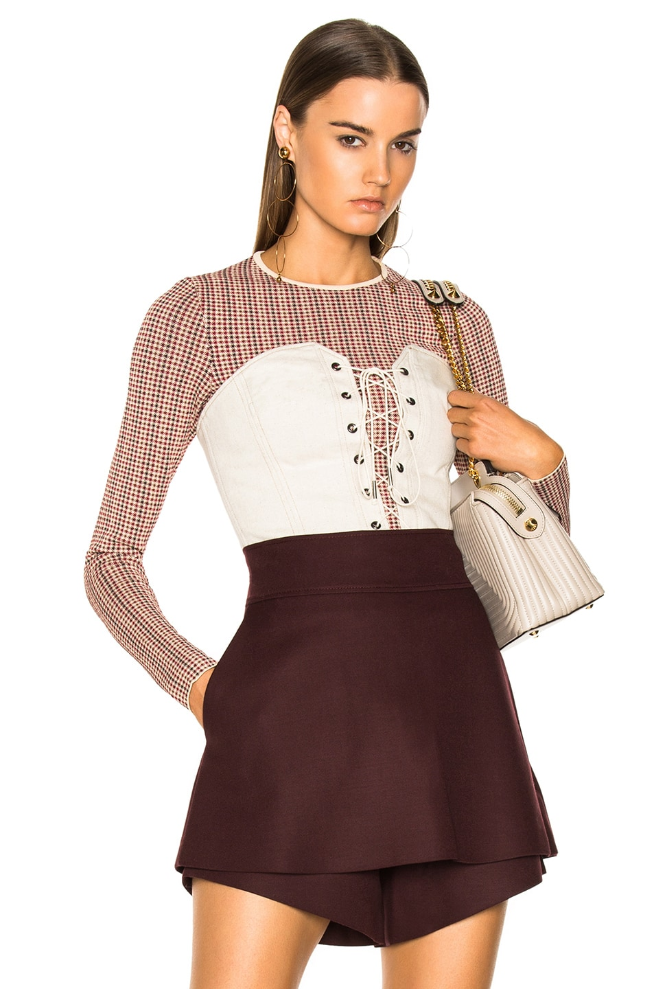 Image 1 of Stella McCartney Fitted Sweater in Burgundy Mix