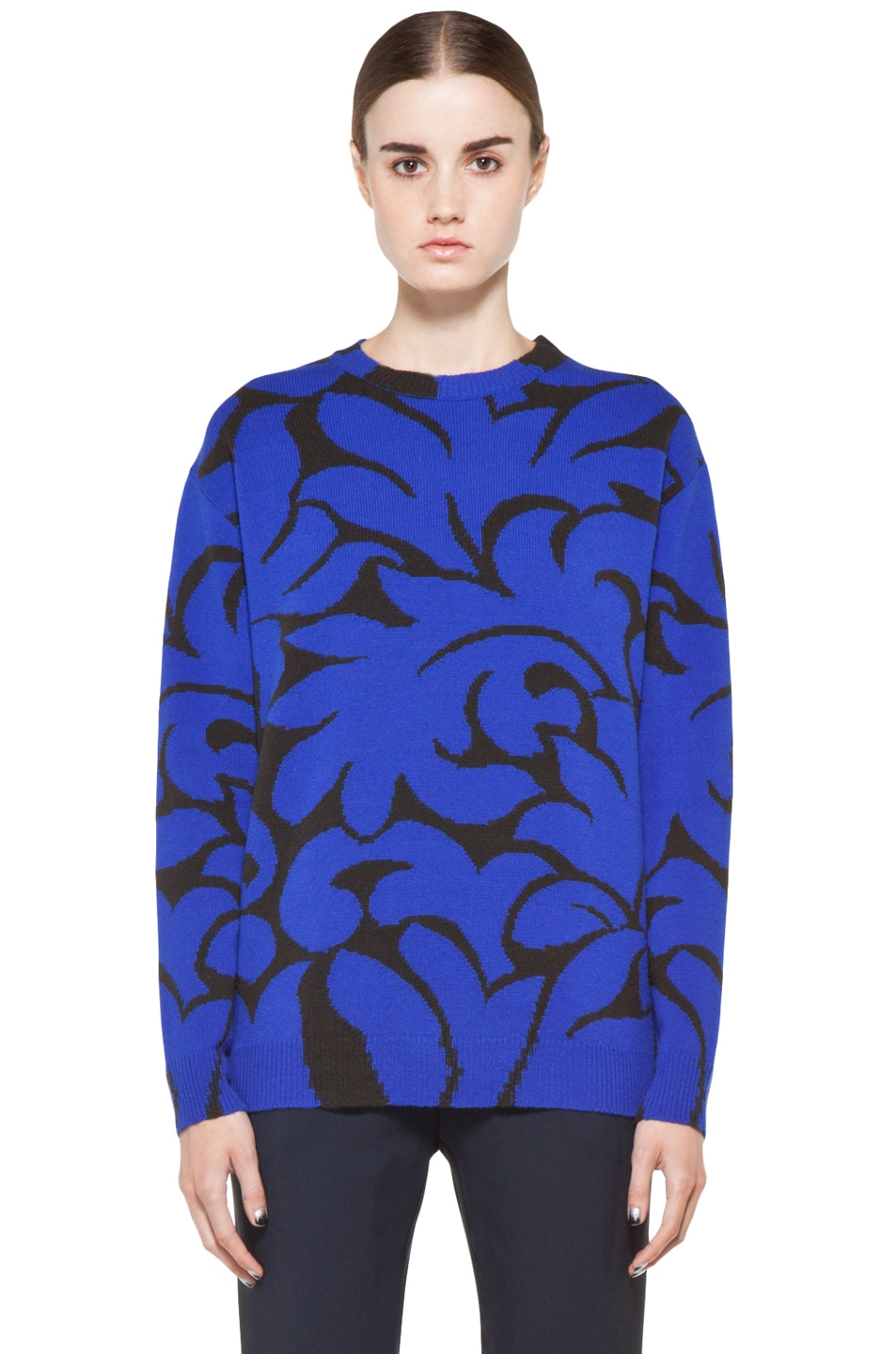 Image 1 of Stella McCartney Pullover Crew Neck Sweater in Egyptian Blue