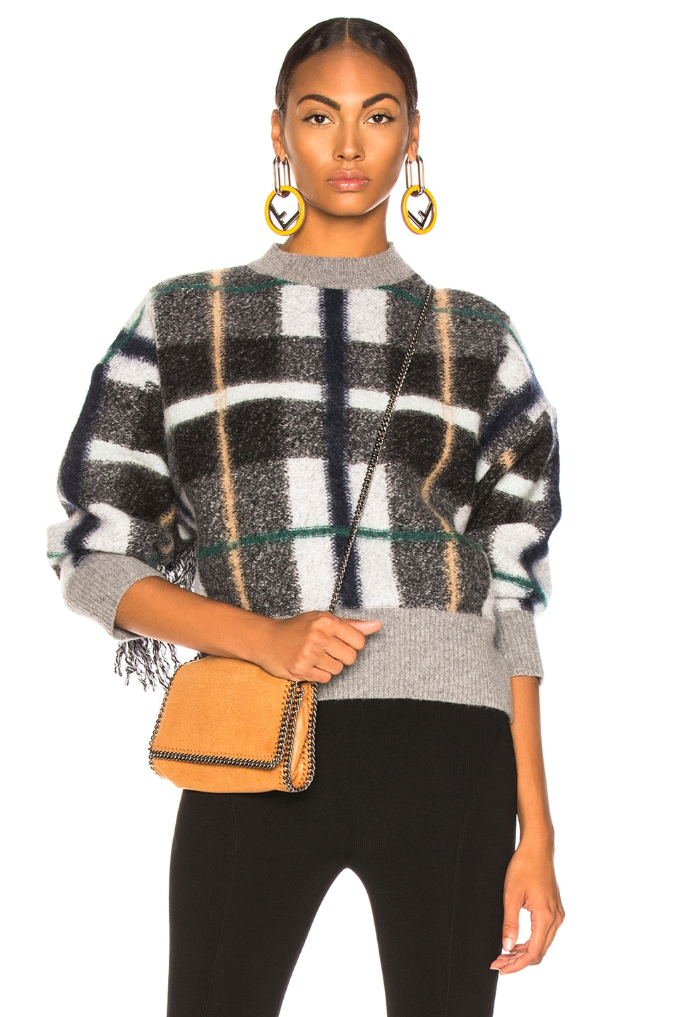 Image 1 of Stella McCartney Mockneck Sweater in Grey & Multicolor