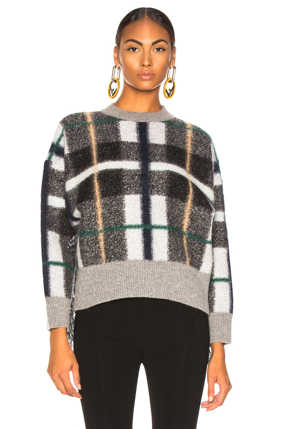 Image 2 of Stella McCartney Mockneck Sweater in Grey & Multicolor
