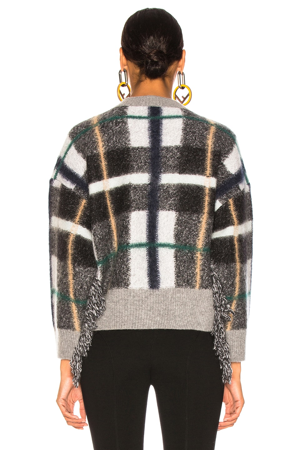 Image 4 of Stella McCartney Mockneck Sweater in Grey & Multicolor