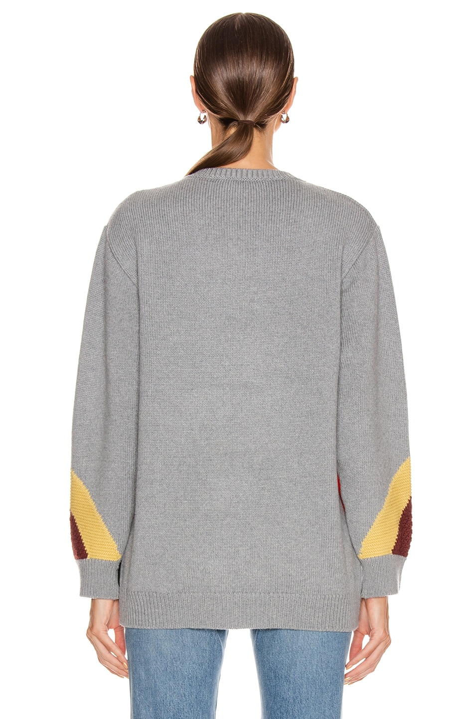 Image 4 of Stella McCartney All You Need Is Love Sweater in Grey Multicolor