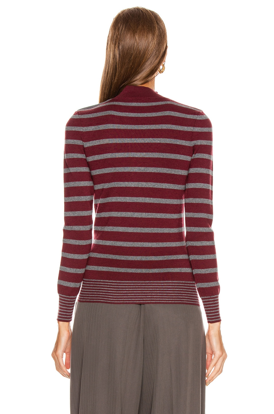 Image 3 of Stella McCartney Sailor Sweater in Burgundy & Grey