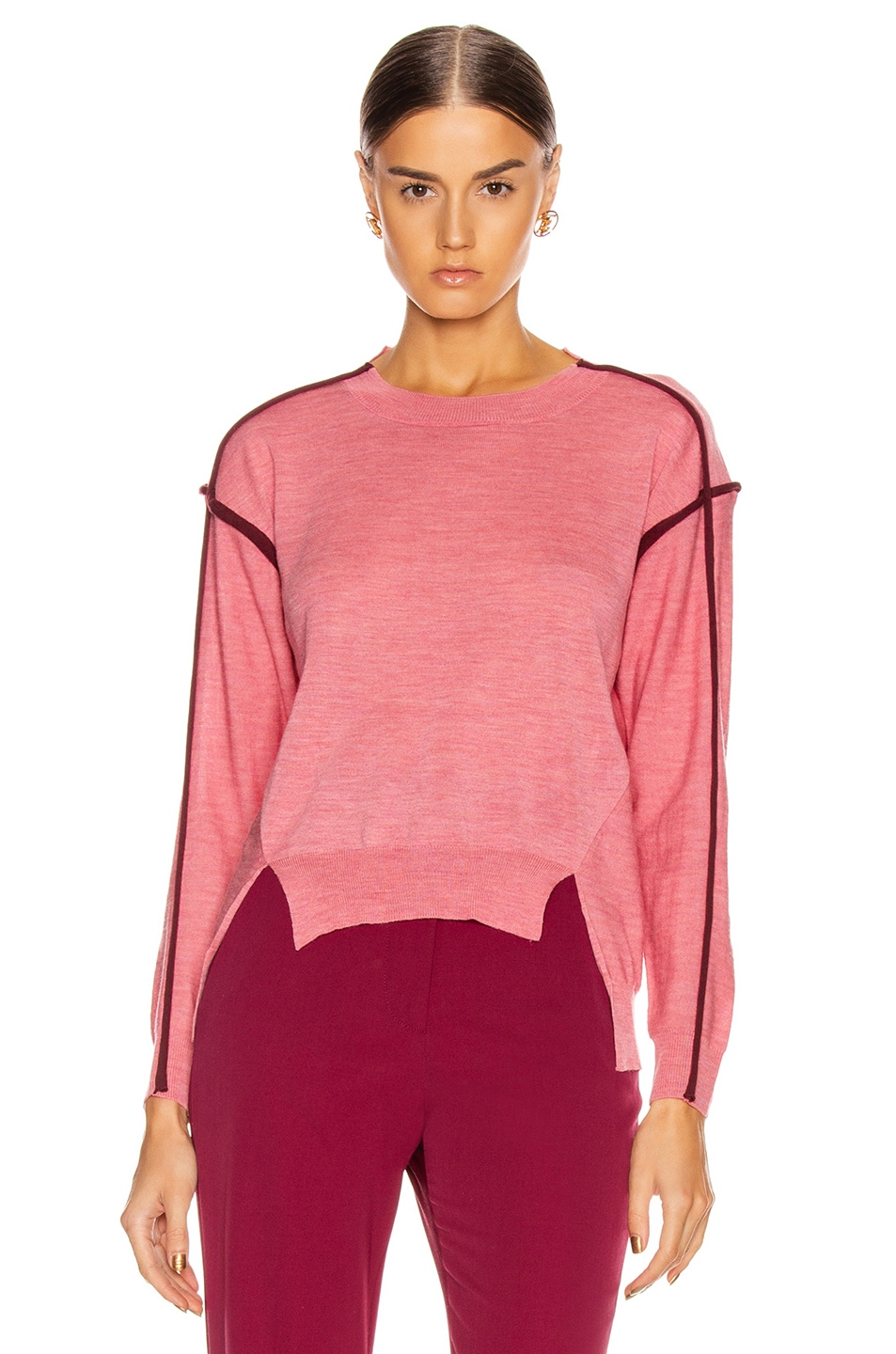 Image 1 of Stella McCartney Lightweight Sweater in Dark Pink
