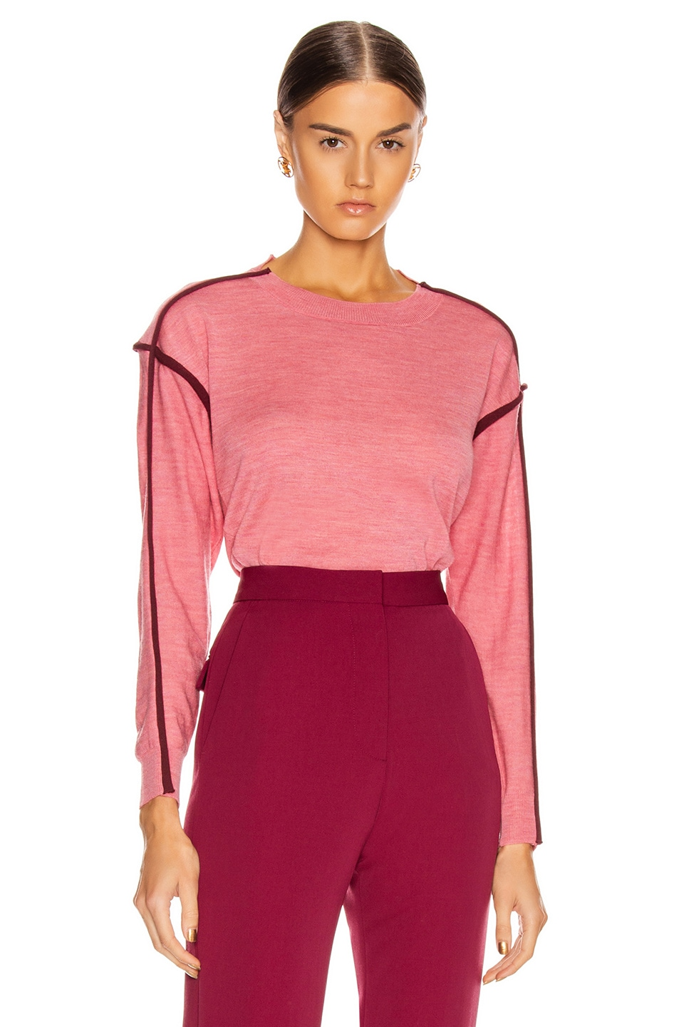 Image 2 of Stella McCartney Lightweight Sweater in Dark Pink