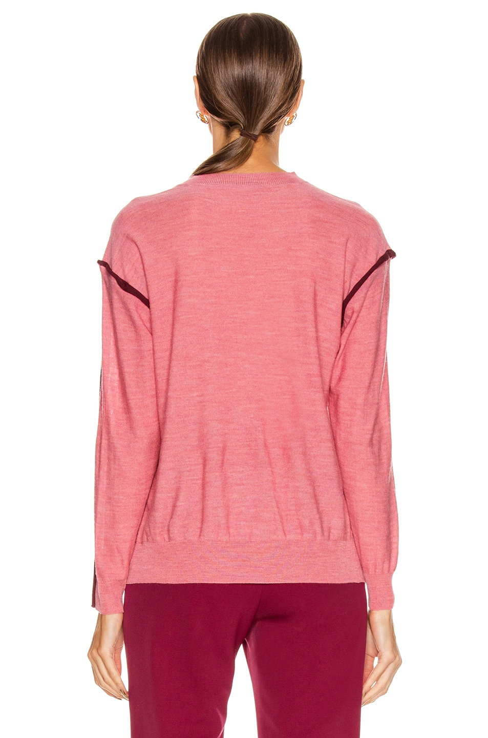 Image 4 of Stella McCartney Lightweight Sweater in Dark Pink