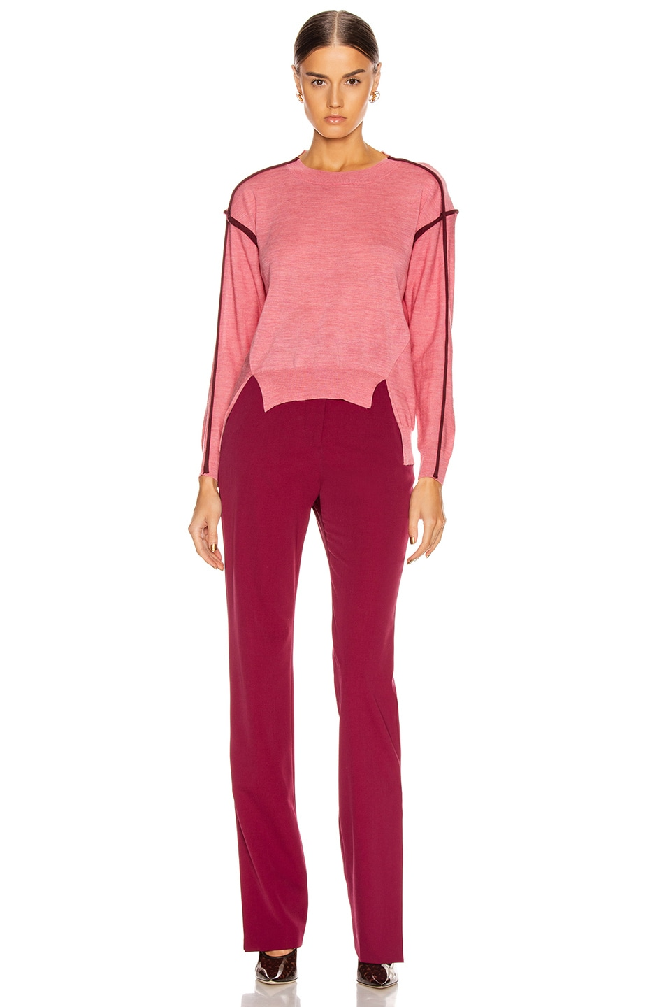 Image 5 of Stella McCartney Lightweight Sweater in Dark Pink