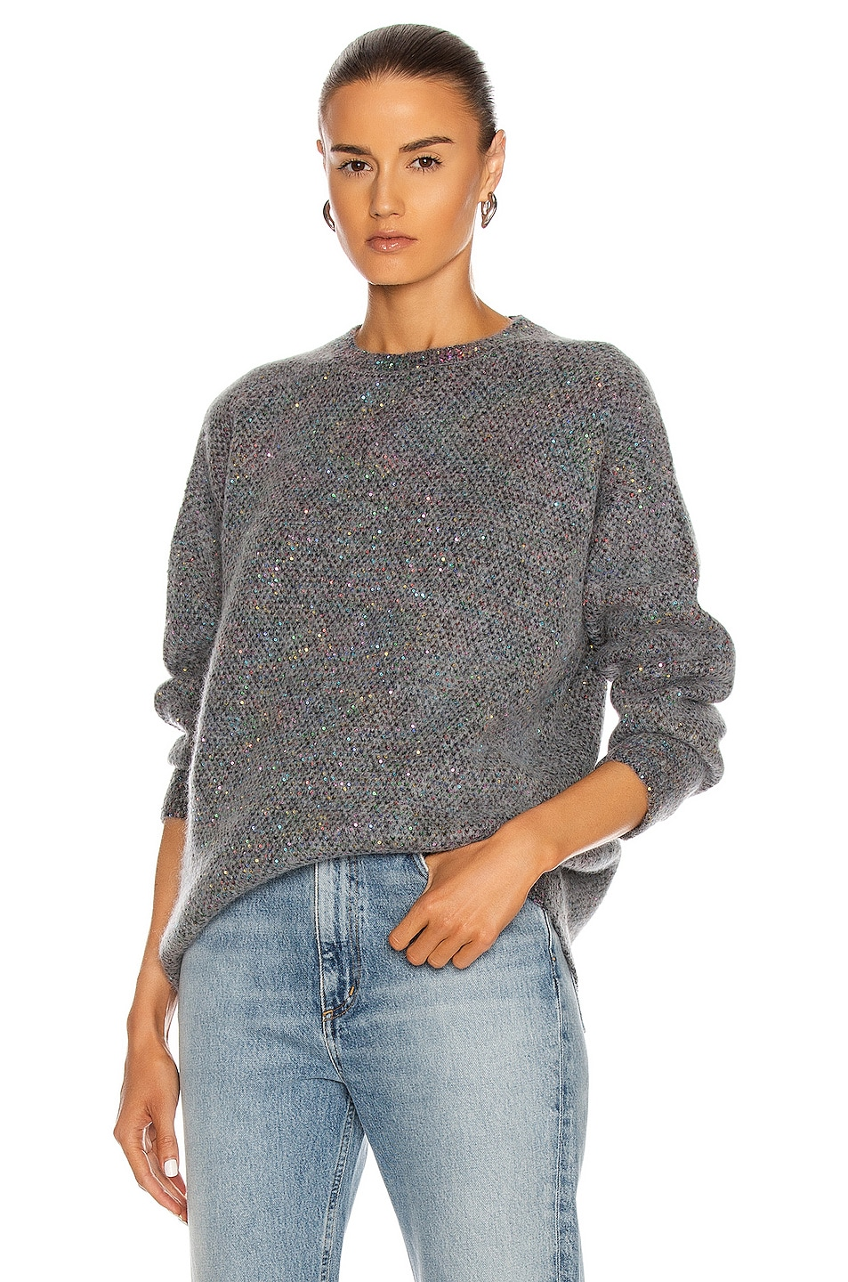 Image 1 of Stella McCartney Sequin Sweater in Charcoal