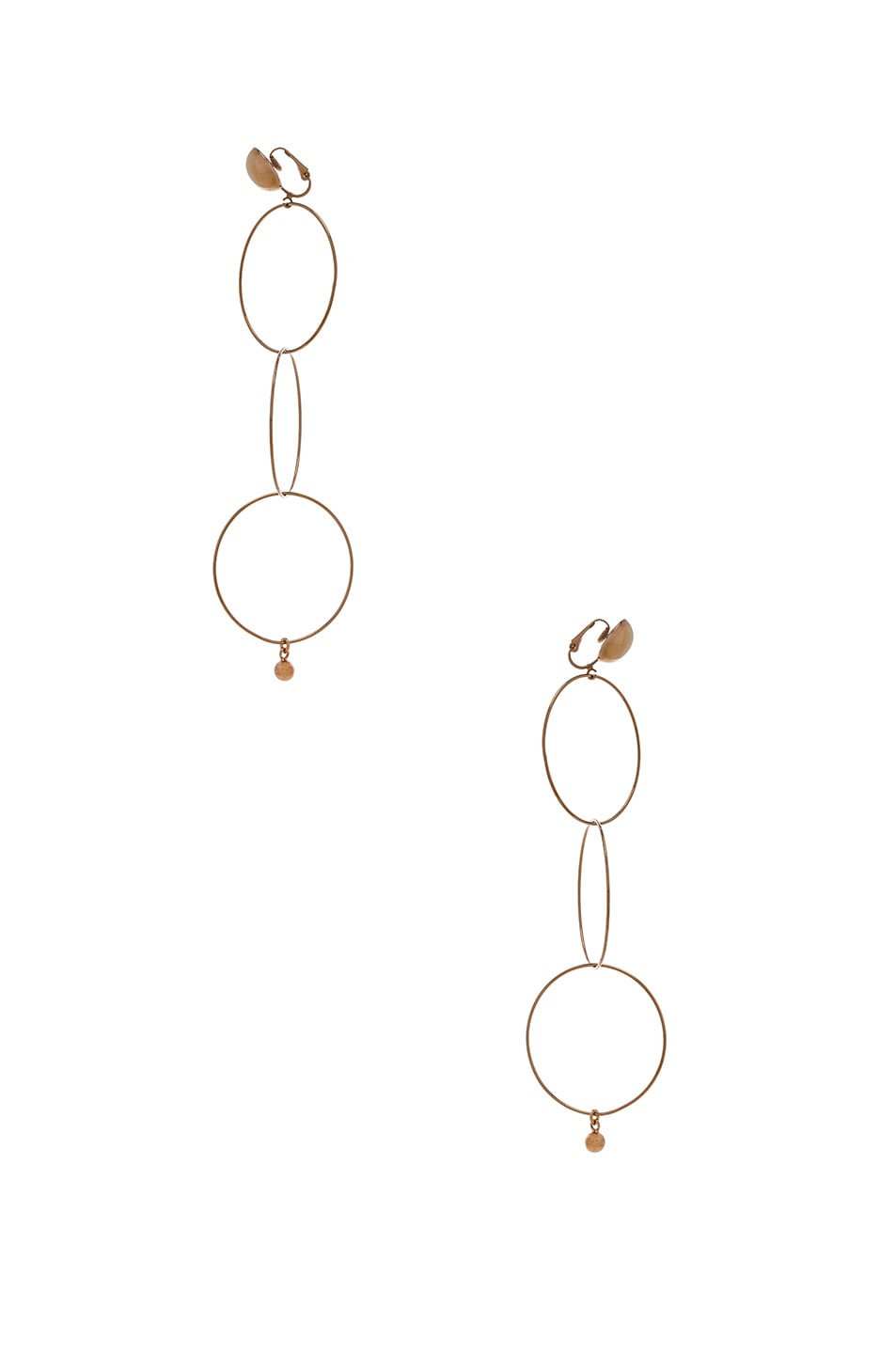 Image 2 of Stella McCartney Brass Drop Earrings in Old Rose Gold