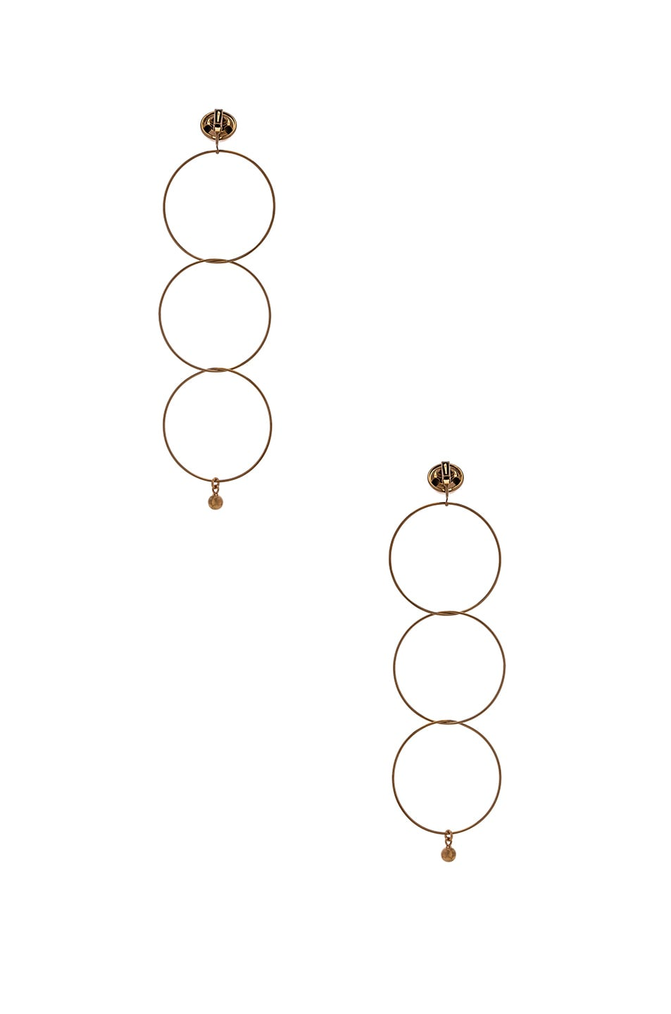 Image 3 of Stella McCartney Brass Drop Earrings in Old Rose Gold