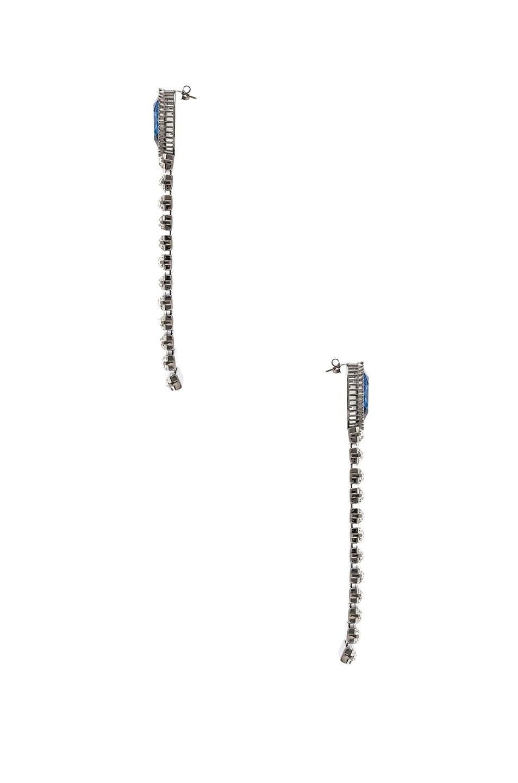 Image 2 of Stella McCartney Brass & Crystal Earrings in Navy