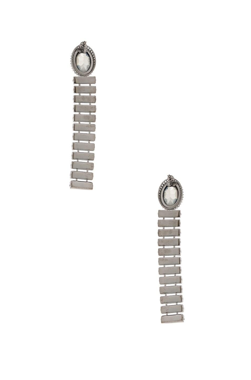 Image 3 of Stella McCartney Brass & Crystal Earrings in Navy