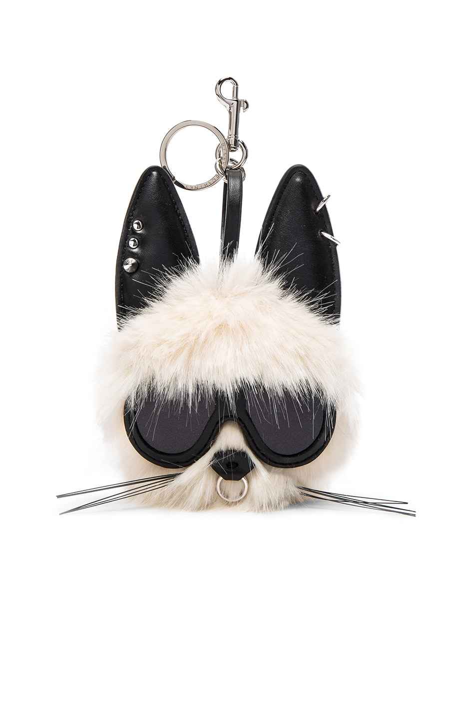 Image 1 of Stella McCartneyRabbit Faux Fur Keychain in Linen