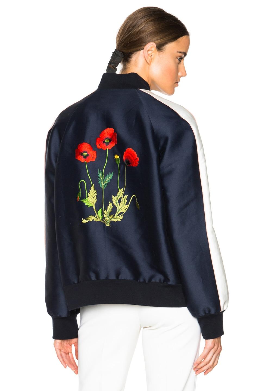 Image 1 of Stella McCartney Lorinda Botanical Embroidery Jacket in Ink