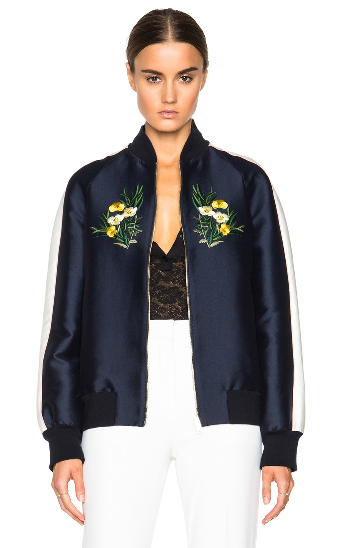 Image 2 of Stella McCartney Lorinda Botanical Embroidery Jacket in Ink