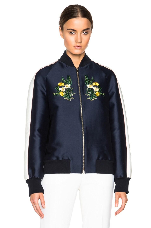Image 3 of Stella McCartney Lorinda Botanical Embroidery Jacket in Ink